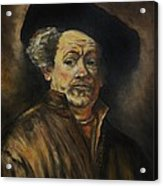 Quick Study Of Rembrandt Acrylic Print by Stefon Marc Brown