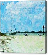 Quiet Beach Day Acrylic Print