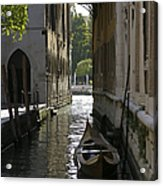 Quiet Canal In Venice Acrylic Print