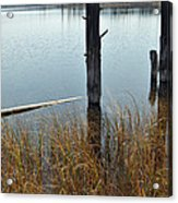 Quiet Day On Yellowstone's Goose Lake Acrylic Print