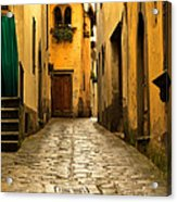 Quiet Lane In Tuscany 1 Acrylic Print