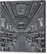Quiet Room Bw Acrylic Print