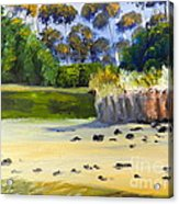 Quiet Sand By The Creek Acrylic Print
