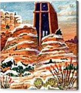 Quiet Snowfall  Sedona  Arizona Acrylic Print