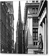 Quiet Sunday On Wall Street Acrylic Print