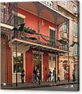 Quiet Time In The Quarter Acrylic Print