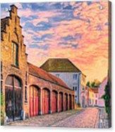 Quiet Village Sunset Acrylic Print