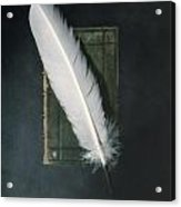 Quill And Book Acrylic Print