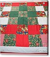 Quilt Christmas Blocks Acrylic Print