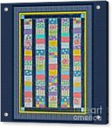 Quilt Painting With Digital Border 2 Acrylic Print
