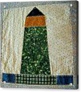 Quilt Work Of The Chambers Island Lighthouse Acrylic Print