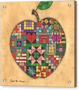 Quilted Apple Acrylic Print