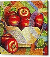 quilted Apples Acrylic Print