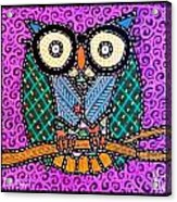Quilted Dr Owl Acrylic Print