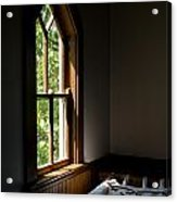 Quilting By Window Light Acrylic Print