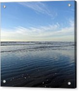 Quinault Beach Patterned Reflection Acrylic Print