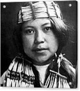 Quinault Indian Girl Circa 1913 Acrylic Print