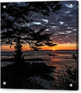 Quoddy Sunrise Acrylic Print by Marty Saccone