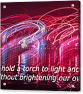 Quote By Ben Sweetland Acrylic Print