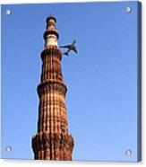 Qutab Minar Minaret - New Delhi - India Acrylic Print