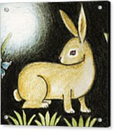 Rabbit And The Butterfly . . . From The Tapestry Series Acrylic Print