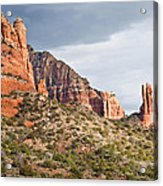 Rabbit Ears Spire At Sunset Acrylic Print