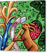 Rabbit Plays The Flute Acrylic Print