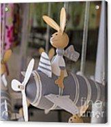 Rabbits Can Fly Acrylic Print