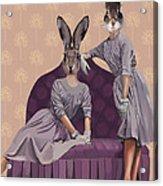 Rabbits In Purple Acrylic Print by Kelly McLaughlan