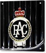 Royal Automobile Club Badge, Victoria Acrylic Print