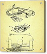 Race Car Track With Race Car Retaining Means Patent 1968 Acrylic Print