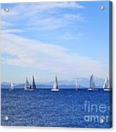 Race In Point Roberts Acrylic Print