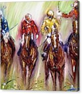 Irish Racehorses Available As A Signed And Numbered Print See Www.pixi-.com Acrylic Print