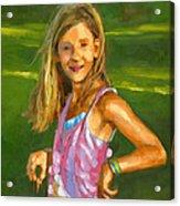 Rachel With Cookie Acrylic Print