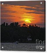 Racing Against The Sunset Acrylic Print