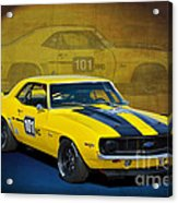 Racing Camaro Acrylic Print