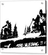 Racing Over The Ski Jump Acrylic Print