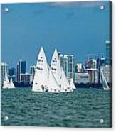 Racing Past Miami Acrylic Print