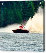 Racing Speed Boat Acrylic Print