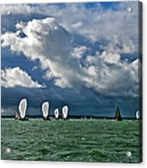 Racing Yachts In The Solent Acrylic Print