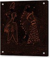 Radha Krishna Dancing Acrylic Print