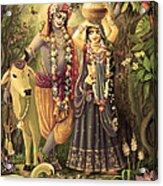 Radha-krishna Radhakunda 2 Acrylic Print by Lila Shravani
