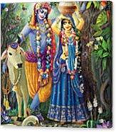 Radha-krishna Radhakunda Acrylic Print by Lila Shravani