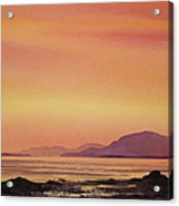 Radiant Island Sunset Acrylic Print