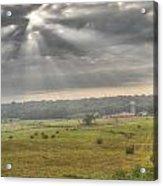 Radiant Light Over The Farm Acrylic Print