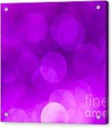 Radiant Orchid Bokeh Acrylic Print