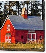 Radiant Red Barn Acrylic Print