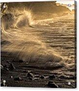 Radiant Sunrise Surf Acrylic Print