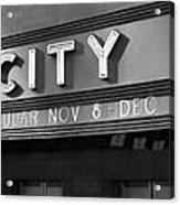 Radio City In Black And White Acrylic Print