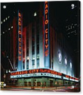 Radio City Music Hall In New York City Acrylic Print